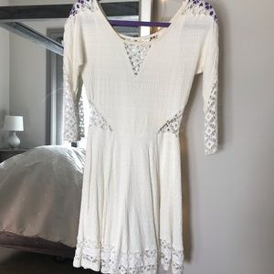 Free People long sleeve dress w/ mesh detailing
